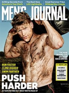 Hunter on the cover of Men's Journal