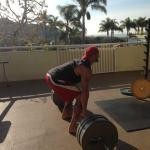 Gabe Kapler lifting weights