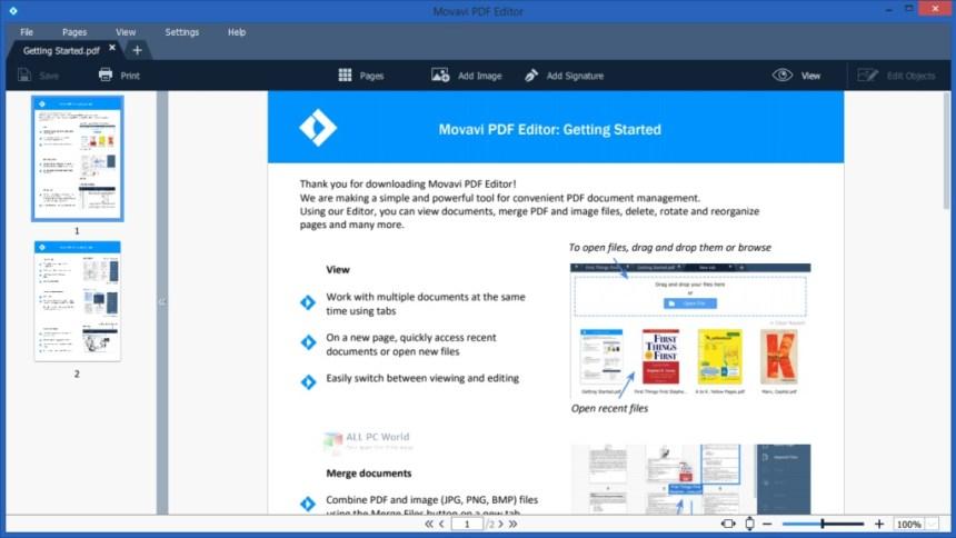 Movavi PDF Editor 3.1 Descargar