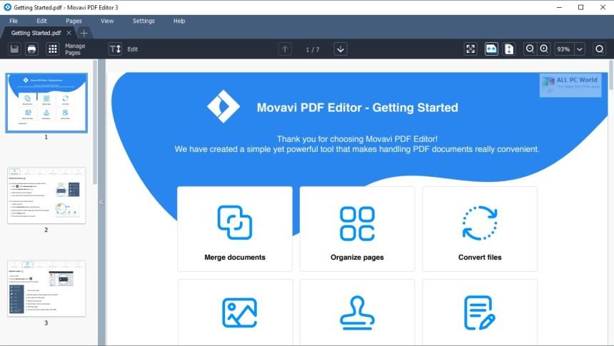 Movavi PDF Editor 3.1