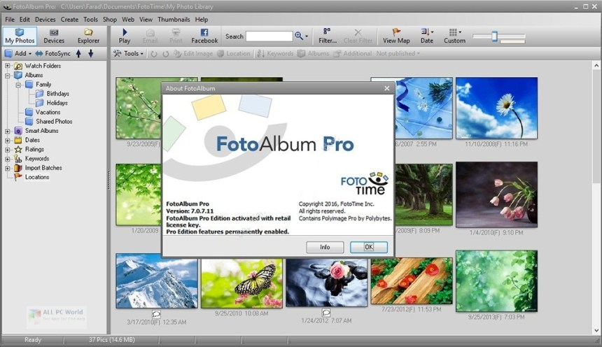 FotoAlbum Pro v7.0 para Windows