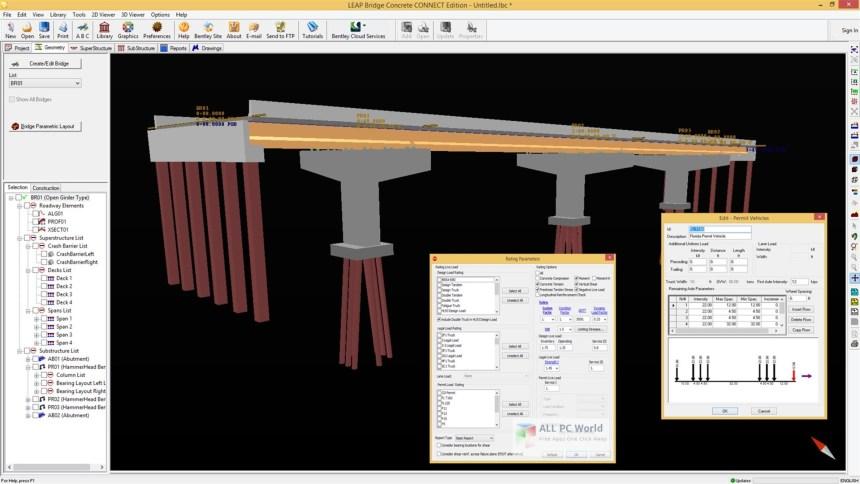 Descarga gratuita de Bentley LEAP Bridge Concrete CONNECT Edition 18.0