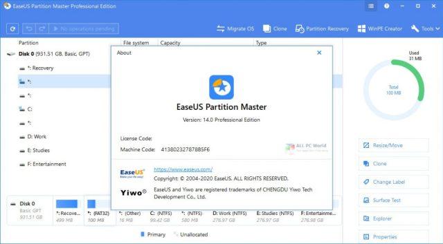 Descargar EaseUS Partition Master 2020