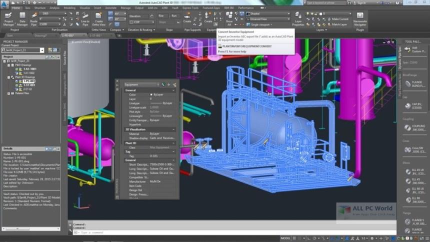 Revisión de AutoCAD Plant 3D 2018