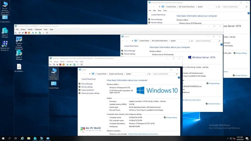 Microsoft Windows 10 LTSC Enterprise, febrero de 2019
