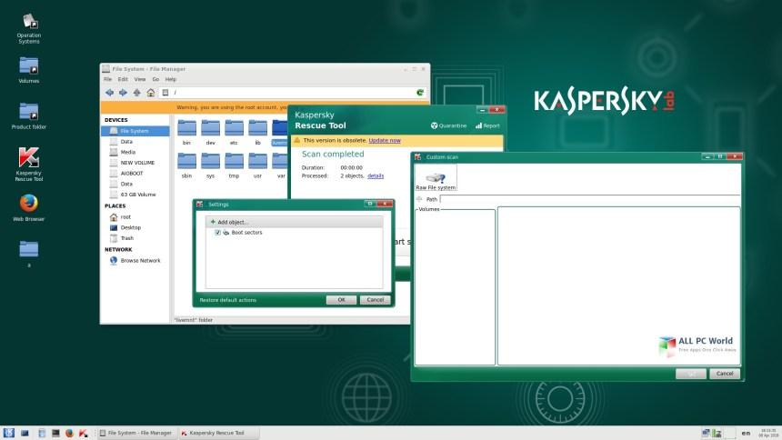 Descarga gratuita de Kaspersky Rescue Disk 2018 18.0