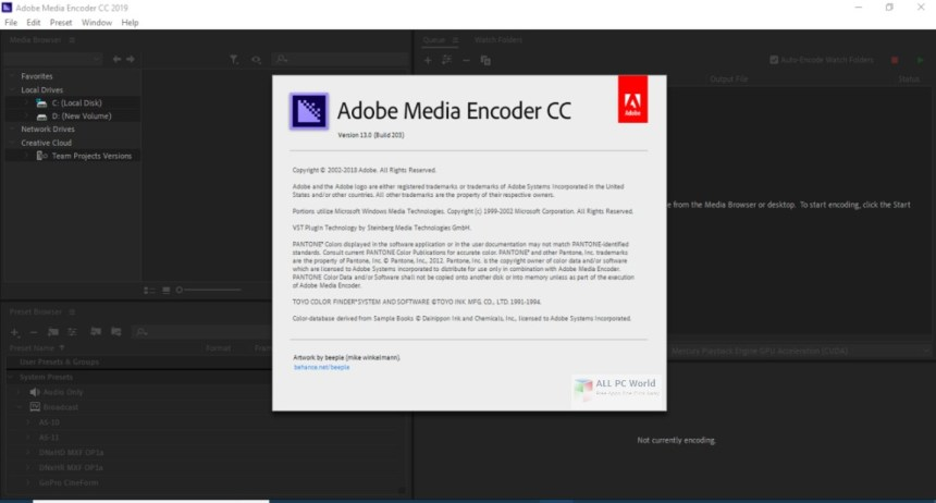 Descarga gratuita de Adobe Media Encoder CC 2019 v13.0