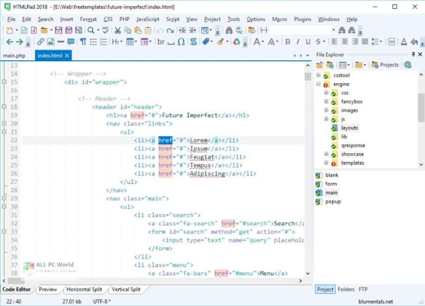 Blumentals HTMLPad 2018 15.3