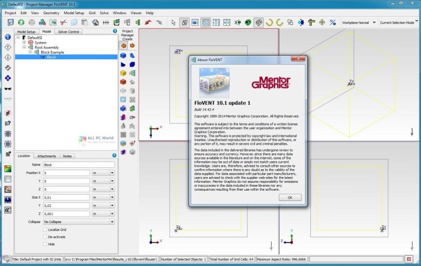 Mentor Graphics FloVent 10.1 Descarga gratis