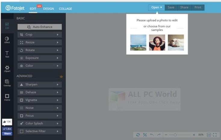 Revisión de la versión gratuita de la herramienta gráfica FotoJet
