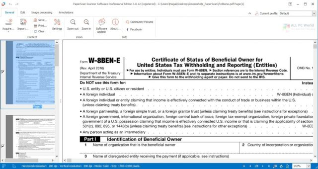 Enlace de descarga directa ORPALIS PaperScan Professional 3.0