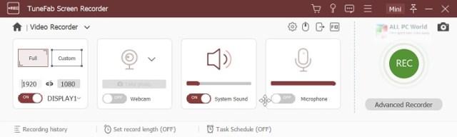 TuneFab Screen Recorder 2.2.12 Descargar