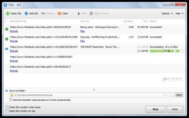 SocialMediaApps Facebook Video Downloader 5.2 Descarga con un clic