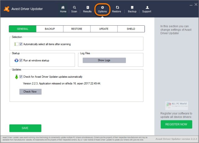 Actualizador de controladores de Avast 2.5