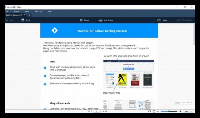 Movavi PDF Editor 2020 v3.2 Descarga con un clic