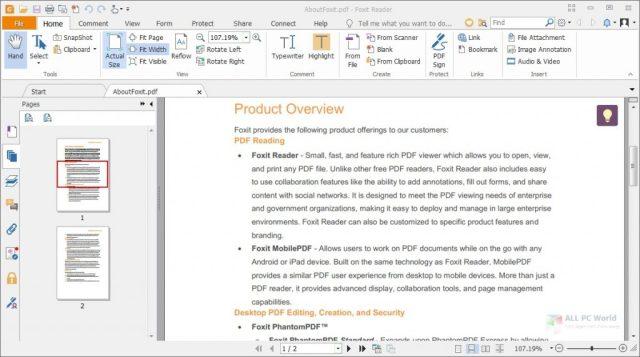 Descarga gratuita de Foxit PDF Reader 10.1