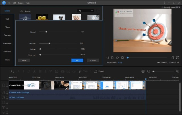 EaseUS Video Editor 1.6 Descarga gratis