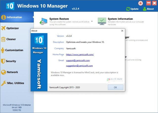 Descarga gratuita de Windows 10 Manager 2020 v3.2