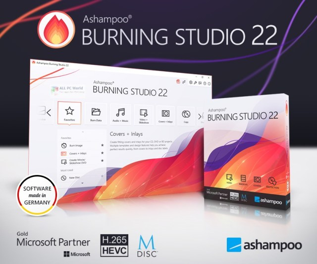 Enlace de descarga directa de Ashampoo Burning Studio 22.0