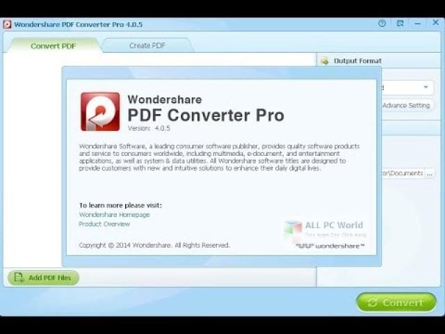Wondershare PDF Converter 5.1 Descarga de la versión completa