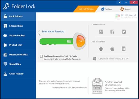 Folder Lock 7.8.4 Descarga de la versión completa