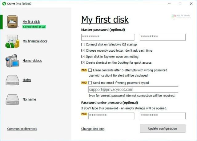 Descarga de la versión completa de Secret Disk 2020
