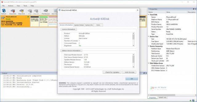 Active KillDisk Ultimate 13.0.5 para Windows 10