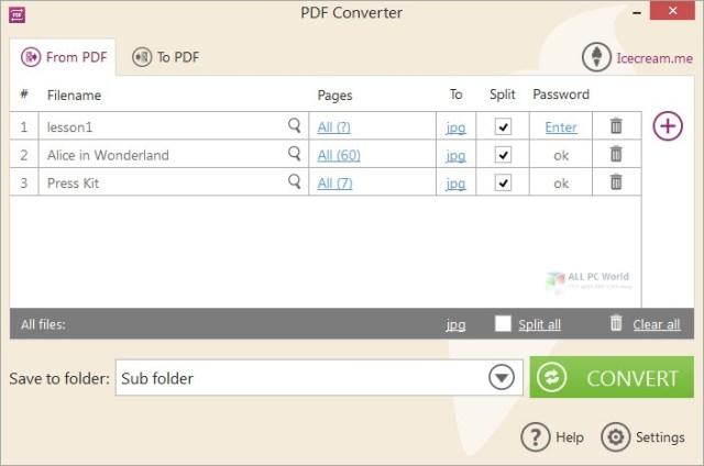 Icecream PDF Converter 2020 Enlace de descarga directa