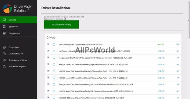 DriverPack Solution Interfaz de usuario iso fuera de línea