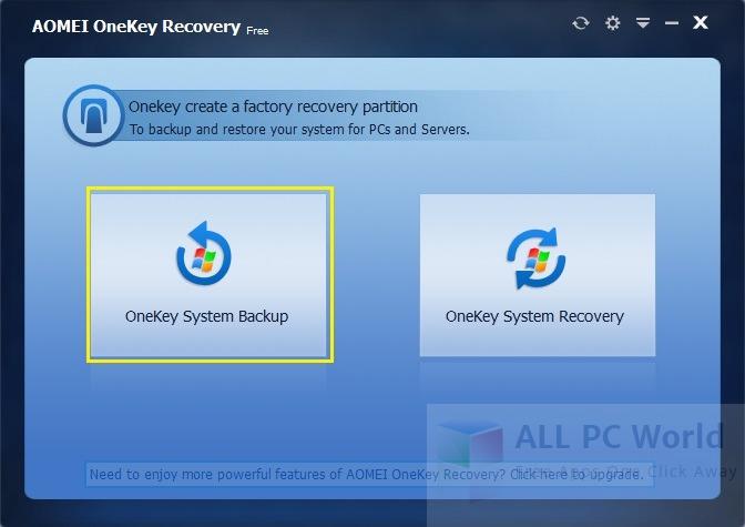 Revisión de AOMEI OneKey Recovery 1.6