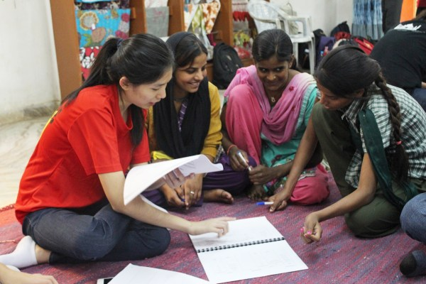 Project Vikasa, conducting a learning session with the women of Ladli