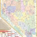 Nevada State Wall Map Kappa Map Group