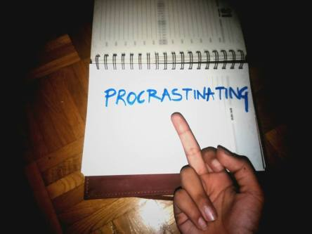 """""""Done with procrastinating! (as I post this on the last day, much too close to midnight)"""" - Aditi Nagrath"""