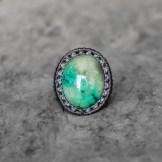 bague turquoise tibet macrame ring (1)