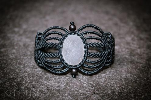bracelet agate drusy grey (1)