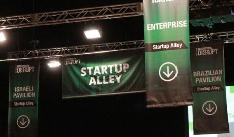 Startup alley at Disrupt NY 2014
