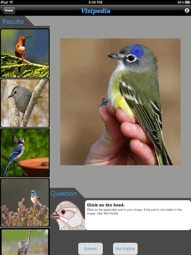 Screenshot of Visipedia for the iPad