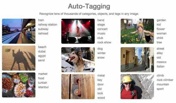 Clarifai, funded by Google Ventures, Nvidia, LDV Capital and Qualcomm and winner of the 2013 ImageNet competition offers an auto-tagging API