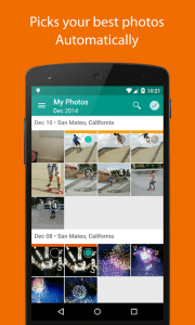Lumific automatically sorts your best images