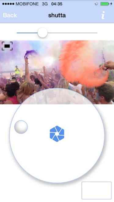 Shutta 's wheel, reminiscent of the original iPod, makes using the app a breaze.