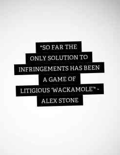 So far the only solution to infringements has been a game of litigious 'Wackamole'