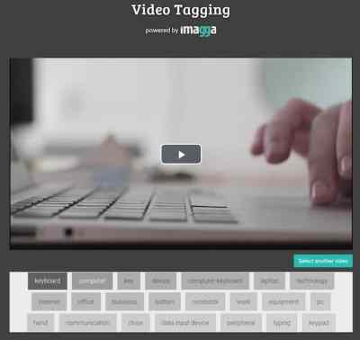 Imagga offers content recognition for video