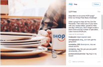 IHOP empty dishes campaign on instagram
