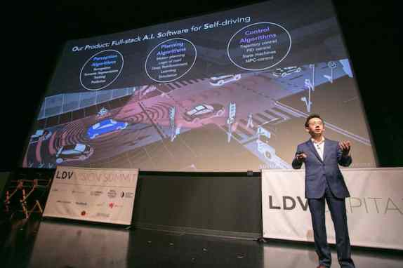 "Presentation by Jianxiong Xiao, ""Professor X"". ©Robert Wright/LDV Vision Summit"