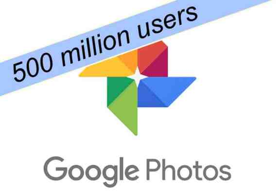 google photos 500 million users