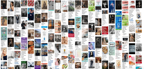 How many images on Pinterest are copyrighted and used without authorization ?