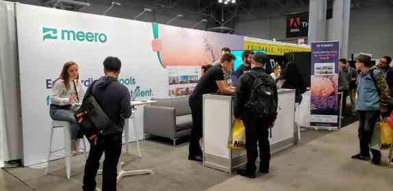 The Meero stand at the 2019 PhotoPlus expo at the Javits Center in New York.