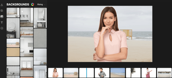pick a background, pick a model, pick objects and voila; you created your own custom image