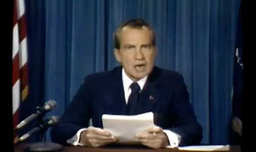 A recent notorious deepfake is one of Richard Nixon delivering a speech he never made. The Nixon deepfake in question. © In The Event of Moon Disaster/YouTube