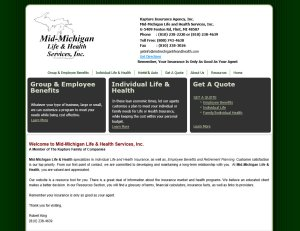 Mid-Michigan Life and Health Service website